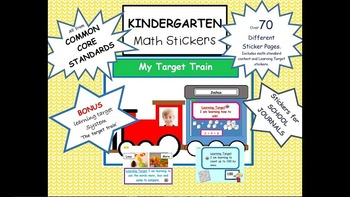 Common Core Math Stickers/labels for Kindergarten