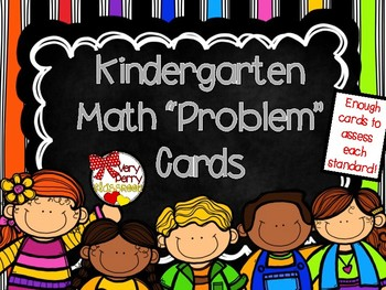 Kindergarten Common Core Math Problem Cards