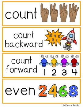 Math Vocabulary (Kindergarten)