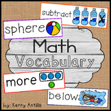 Math Vocabulary Cards Kindergarten
