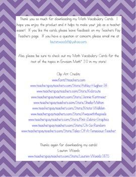Kindergarten Common Core Math Vocab Cards Topic 12 - Identify & Describe Shapes