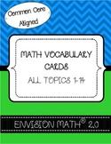 Kindergarten Common Core Math Vocabulary Cards - BUNDLE -