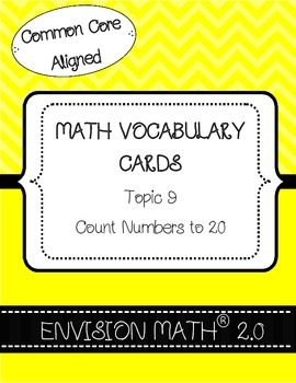 Kindergarten Common Core Math Vocabulary Cards Topic 9 - C