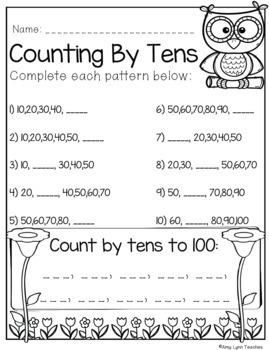100 Kindergarten No Prep Math, Writing, Reading and Language Anytime Printables