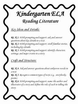 Kindergarten Common Core Math and ELA Guide