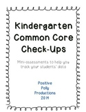 Kindergarten Common Core Check-Ups