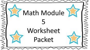 Kindergarten Common Core Module 5 Math Worksheet Packet