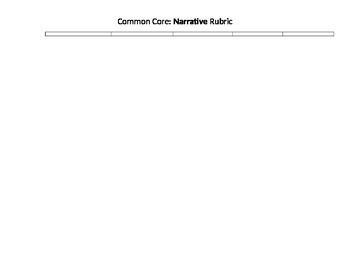 Kindergarten Common Core Narrative Rubric for KIDS