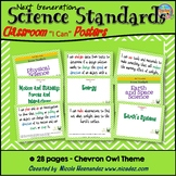 Next Generation Kindergarten Science Standards - Chevron Owl Posters