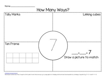 Kindergarten Common Core Math: Operations & Algebraic Thinking for 1-10