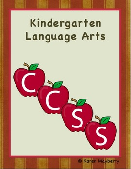 Kindergarten Common Core Planner and Organizer for Language Arts (Word)