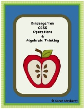 Kindergarten Common Core Planning Template and Organizer for Math (Word)