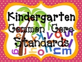 Kindergarten Common Core Posters: Chicka Chicka Boom Boom