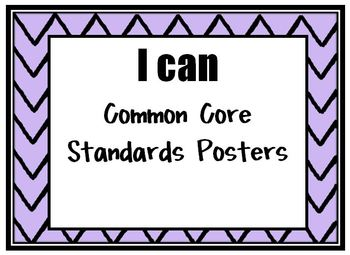 Kindergarten Common Core 'I Can' Posters Math and Reading