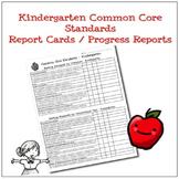 Kindergarten Common Core Progress Report