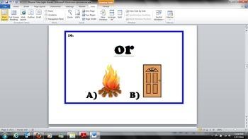Kindergarten - Common Core - RF.K.3 - Rhyme Time Sight Words Task Cards