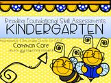 Kindergarten Common Core Reading Foundational Skills Assessments