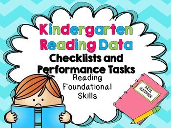 Kindergarten Common Core Reading Foundational Skills Data Notebook Kit