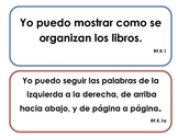 """Kindergarten Common Core - Reading Foundations """"I Can"""" Signs (Spanish)"""