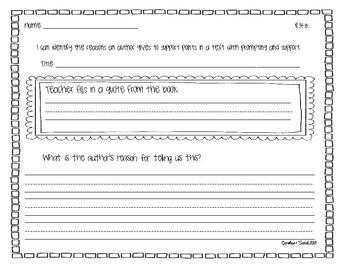 Kindergarten Common Core Reading -Literature Graphic Organizers