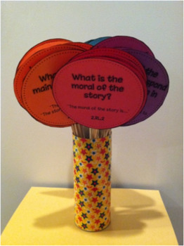 Kindergarten Common Core Reading Question Cards with Sentence Frames