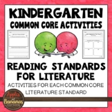 Literature Activities: Kindergarten Reading - CCSS