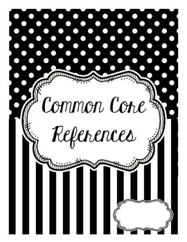 Kindergarten Common Core References