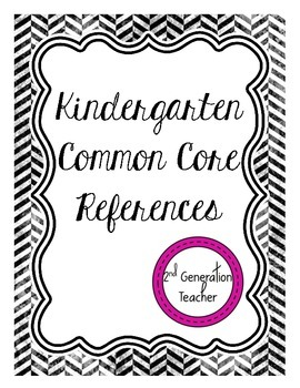 Kindergarten Common Core References