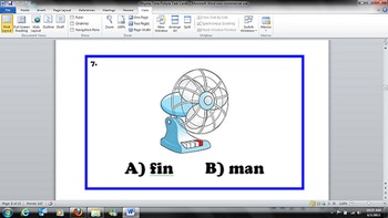 Kindergarten Common Core - Rhyme Time - Picture Task Cards