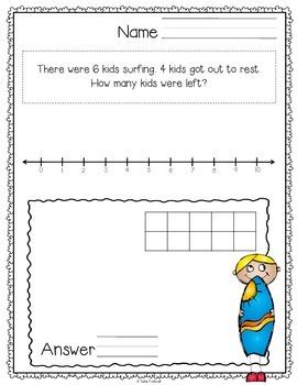 Kindergarten Word Problems for Summer