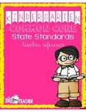 Kindergarten Common Core SWBAT Statements
