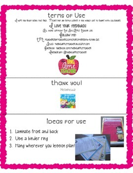 Kindergarten Common Core SWBAT Statements