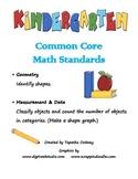 Kindergarten Common Core: Shapes