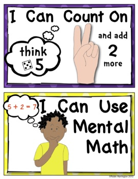 Math Strategy Posters {Addition Problems} Kindergarten & First Common Core