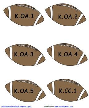 Kindergarten Common Core Sports Display