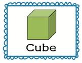 Kindergarten Common Core Standard 2D/3D shapes
