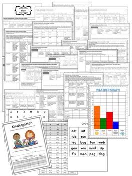 Kindergarten Common Core Standard Based Assessment Pack -Quarters