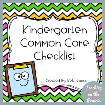 Kindergarten Common Core Standard Checklist