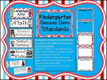 Kindergarten Common Core Standard Posters: Wacky