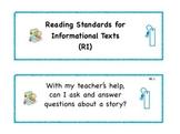 Kindergarten Common Core Standard Signs for Students in La