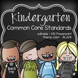 K Common Core posters - EDITABLE - PowerPoint, ELA, Math,