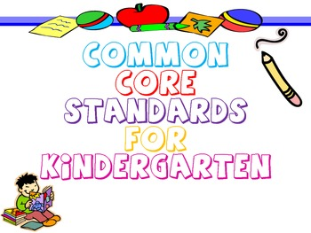 Kindergarten Common Core Standards