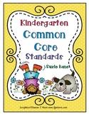 Kindergarten Common Core Standards