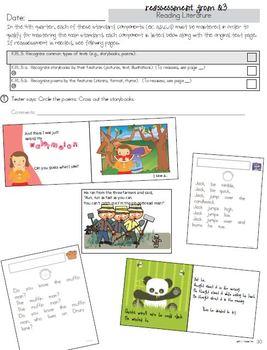 Kindergarten Common Core Standards Assessment Bundle (Qtrly Packets 1-4)