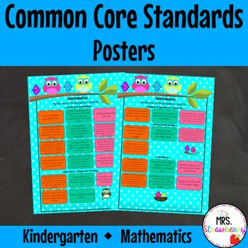 Kindergarten Common Core Standards Posters {Mathematics} O