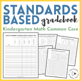 |Kindergarten Common Core| Standards-Based Math Checklist or Gradebook