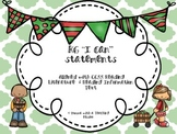 Kindergarten Common Core Standards ELA I can Learning Objectives Apple Theme