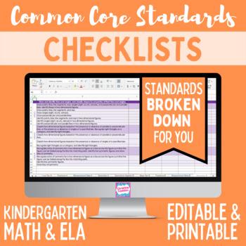 graphic relating to Kindergarten Common Core Standards Printable referred to as Popular Main Listing - Kindergarten