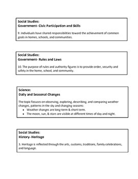 Kindergarten Common Core Standards & Holiday FILE FOLDER LABELS