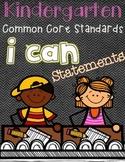 Kindergarten I can statements (CCSS)